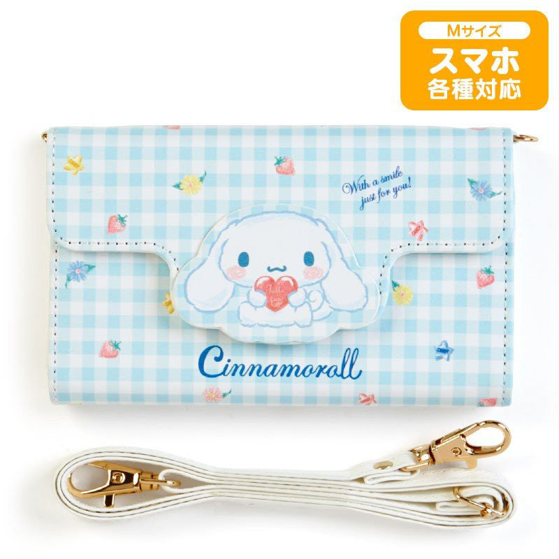 Cinnamoroll Multi Smartphone Case Cover M with Shoulder Sanrio Japan