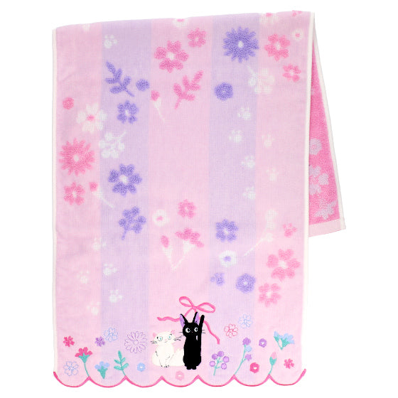 Kiki's Delivery Service Jiji Face Towel Flower Lane Studio Ghibli Japan