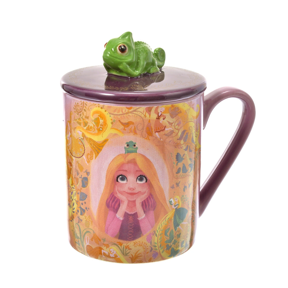 Rapunzel & Pascal Mug Cup with Lid Tangled 10 Years Disney Store Japan
