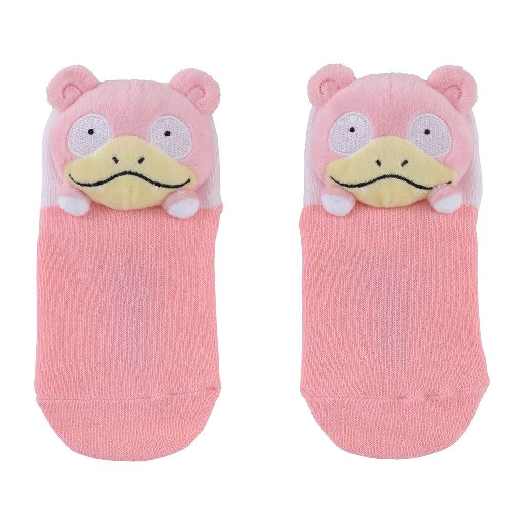 Slowpoke Yadon Short Sock with Plush Mascot Pokemon Center Japan Kids 13-18cm