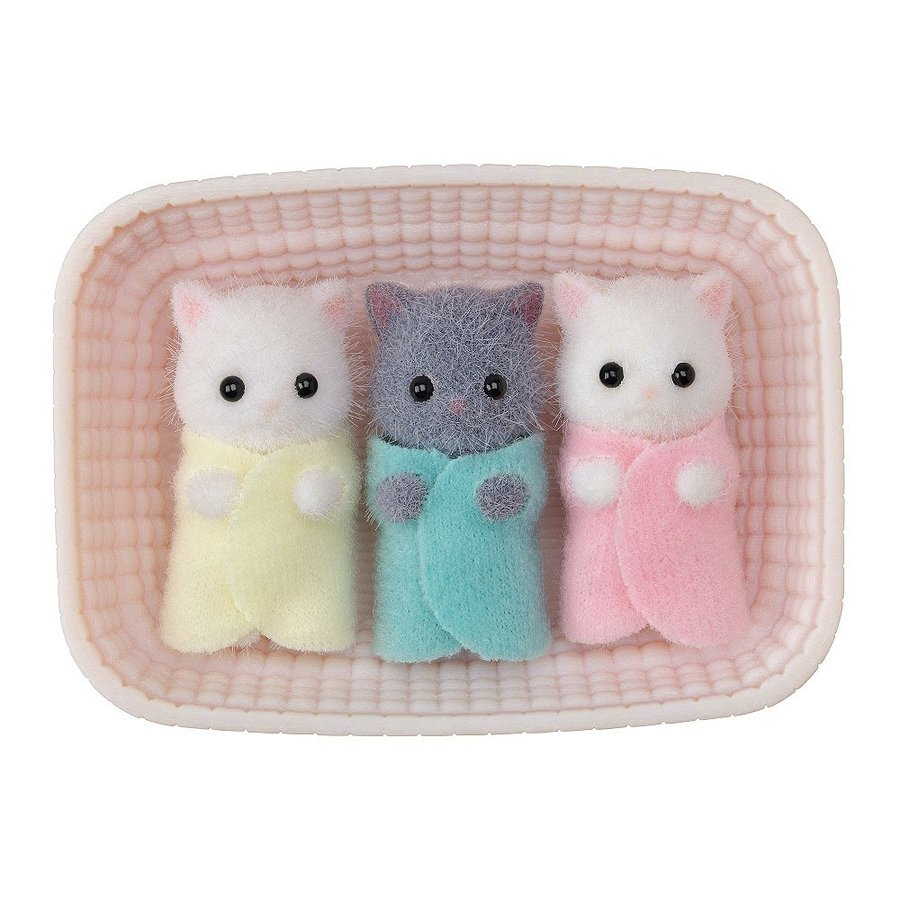 Sylvanian Families Persian Cat Baby Triplets NI-109 EPOCH Japan