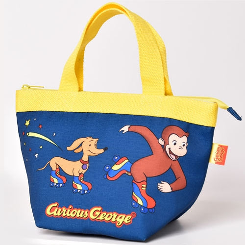 Curious George Lunch Bag Roller skates Japan