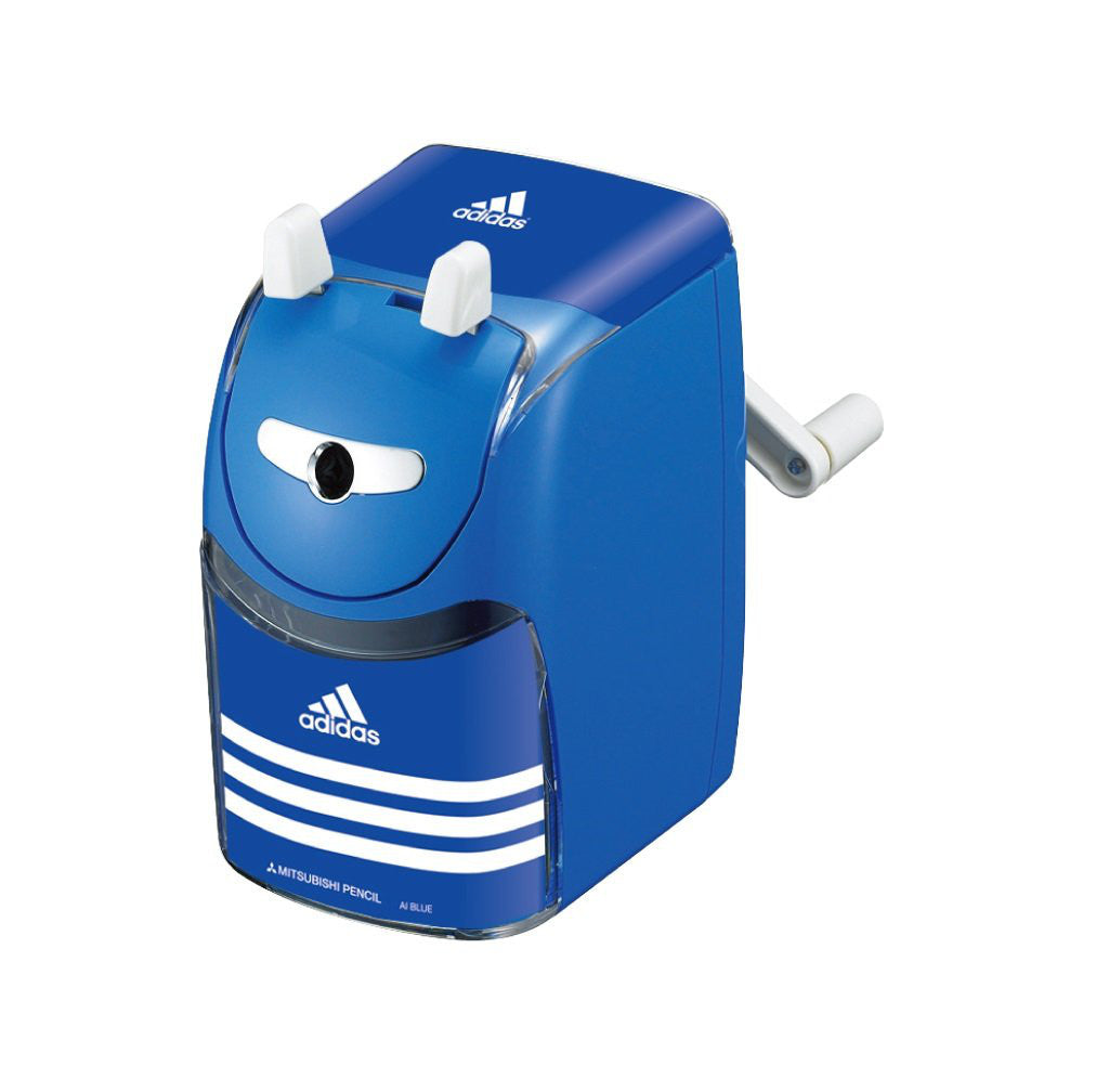 Adidas Manual Pencil Sharpener Blue KH3341 Stationery Japan Mitsibishi Pencil