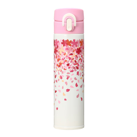 SAKURA 2018 Stainless Bottle Tumbler Flower Shower 400ml Starbucks Japan