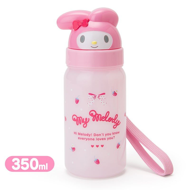 My Melody Cold Straw Bottle Face Strawberry Sanrio Japan
