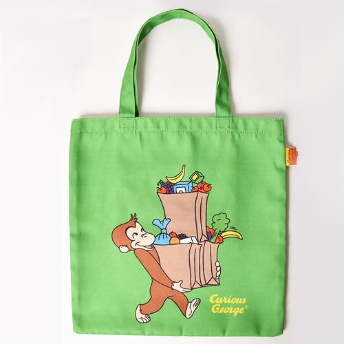 Curious George Lesson Tote Bag Shopping Green Japan