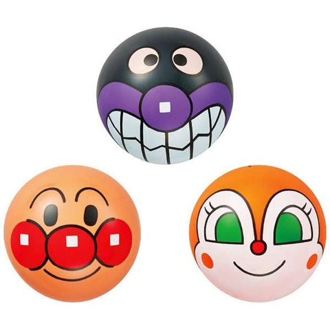 Anpanman Baikinman Dokinchan Face Ball No. 3 Set Japan