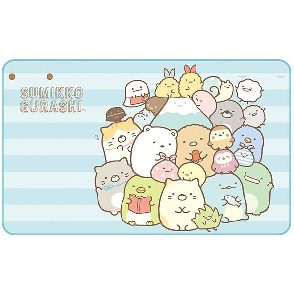 Sumikko Gurashi mini Blanket Blue Stripe San-X Japan