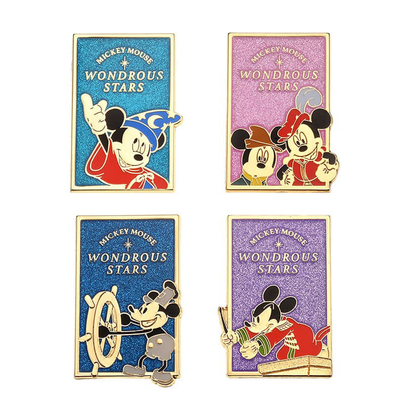 Pin Badge Set Mickey Mouse 90th Anniversary Star Disney Store Japan