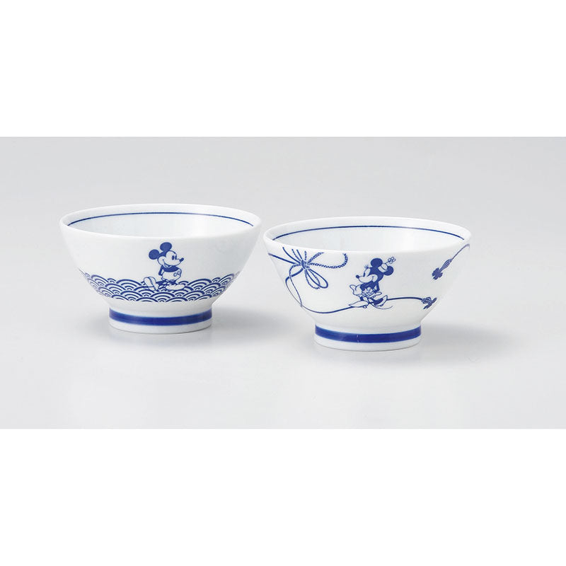 Mickey & Minnie Bowl Set Disney Store Japan Gift Box
