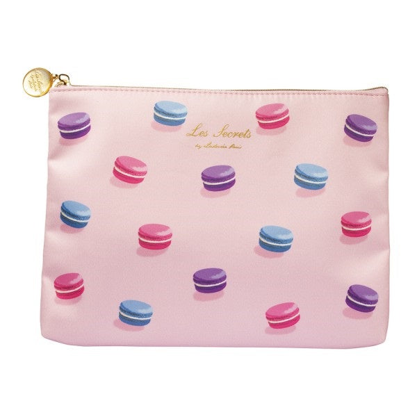 Flat Pouch Macarons Pink Laduree Japan