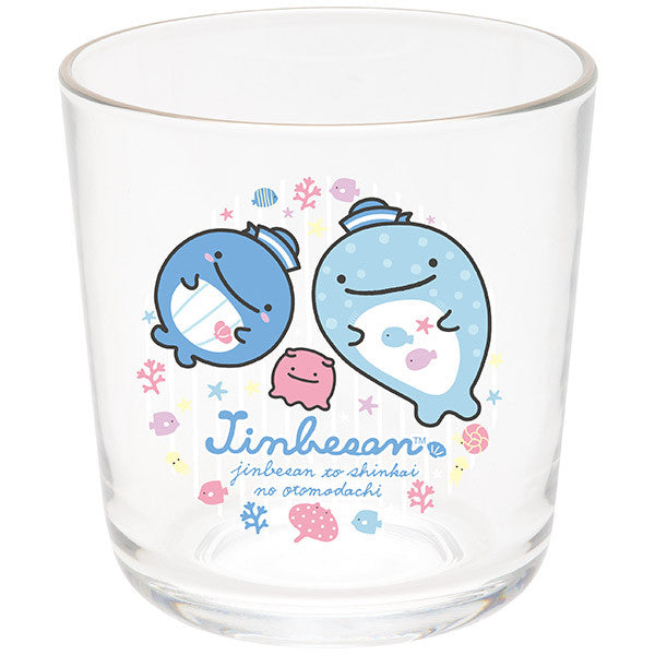 Jinbei San Whale Shark Glass Cup Stomach Deep Sea Friends San-X Japan