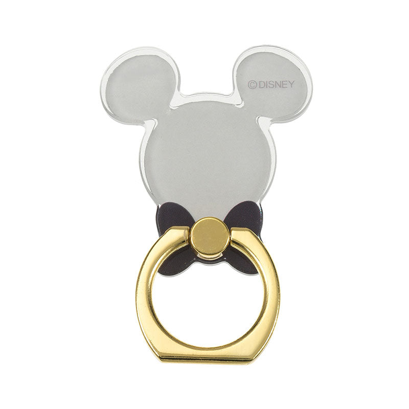 Mickey Smartphone Ring Clear Black D.I.Wow! Disney Store Japan