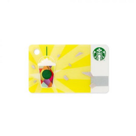 Starbucks Card mini Sparkle yellow 2015 Japan