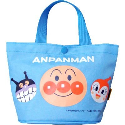 Anpanman mini Tote Bag Blue Japan Kids ANW-1000