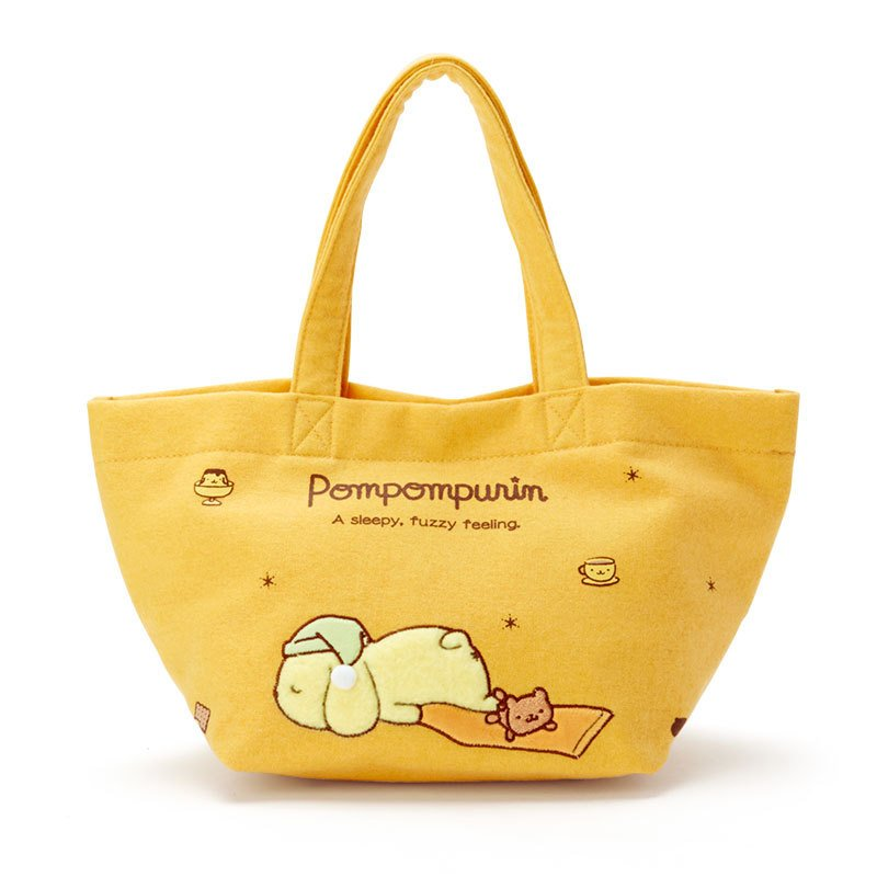 Pom Pom Purin mini Tote Bag Nemunemu Sleepy Sanrio Japan