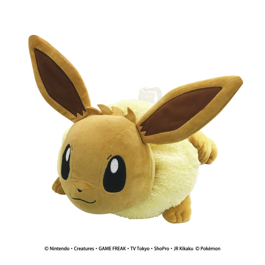 Eevee Eievui Plush Tissue Box Cover Pokemon Center Japan Original