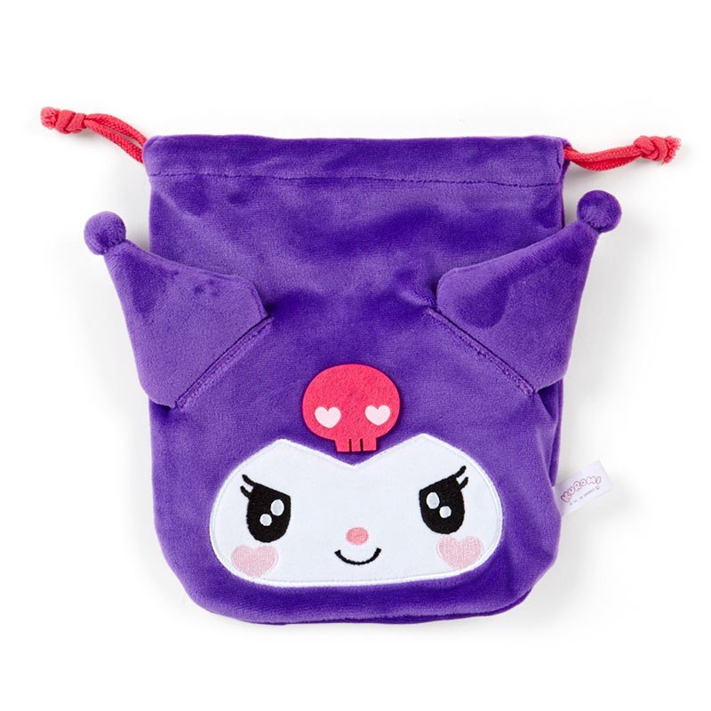 Kuromi Drawstring Pouch Face Chill Sanrio Japan