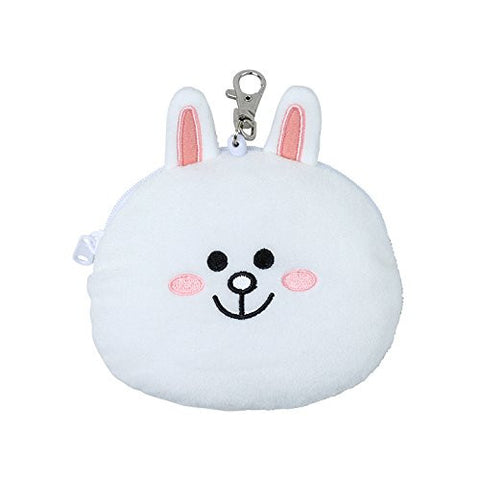 Cony Rabbit Reel ID Card Pass Case Face LINE FRIENDS Japan