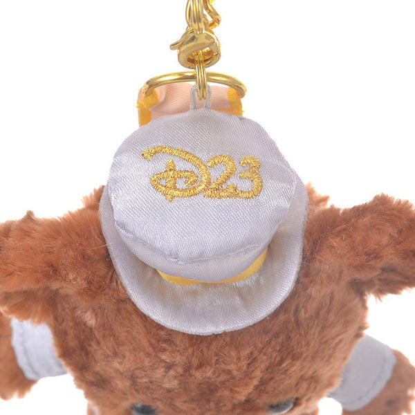 UniBEARsity Mont Chip Plush Keychain 7th Anniversary Top Hat Disney Store Japan