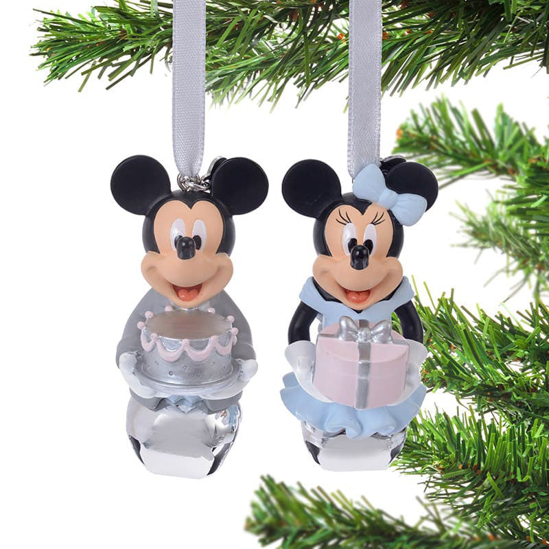 Mickey & Minnie Christmas Tree Ornament with Bell Disney Store Japan 2018