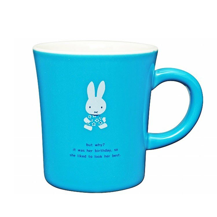 Miffy Mug Cup Birthday Blue Dick Bruna Japan