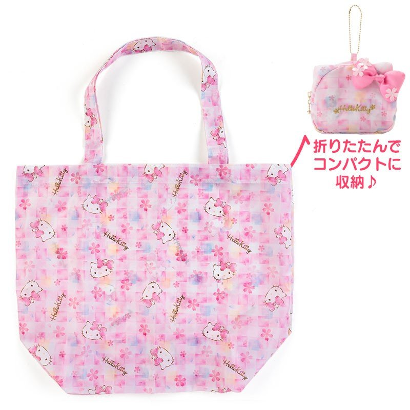 76bd1f1bdd9a Hello Kitty Eco Shopping Tote Bag Sakura Sanrio Japan 2019