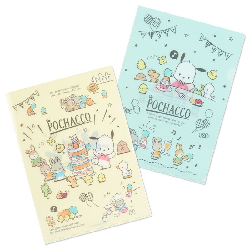 Pochacco File Holder Set A4 Birthday Sanrio Japan