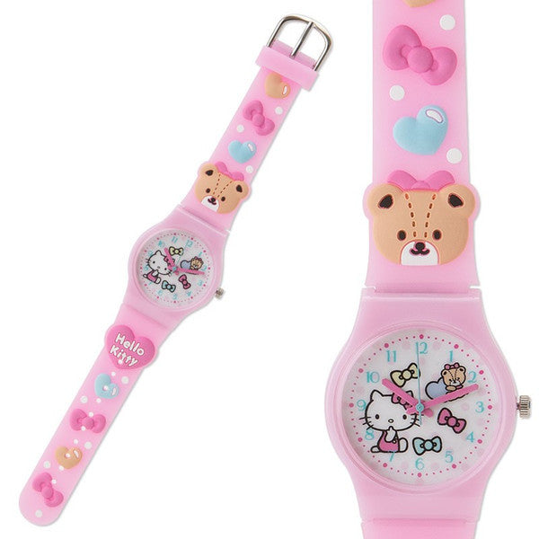 Hello Kitty Kids Rubber Watch Tiny Cham Sanrio Japan