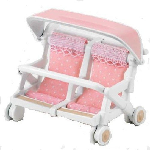 Baby Car Double Stroller Furniture K-214 Sylvanian Families Japan