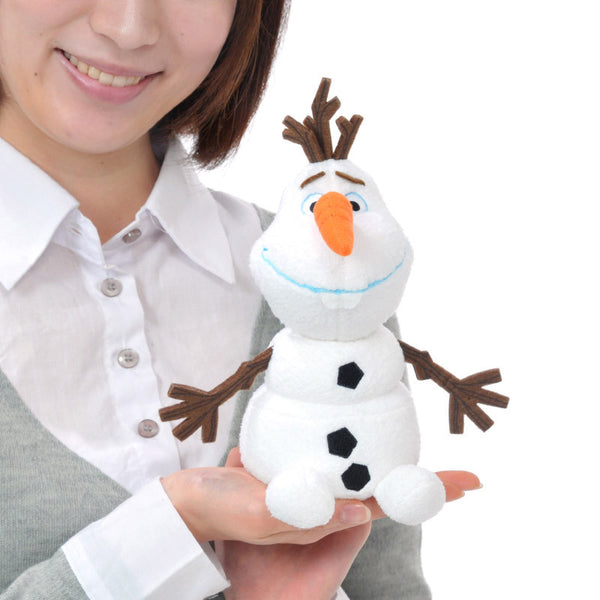 Frozen Olaf Plush Doll I LOVE SUMMER moving Nose Disney Store Japan