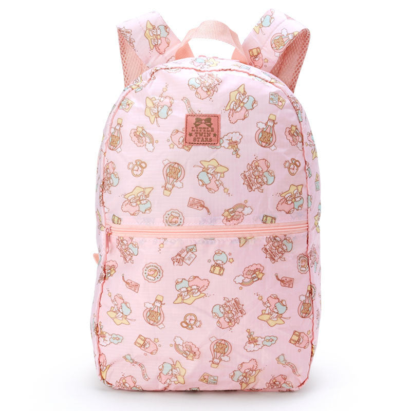 Little Twin Stars Kiki Lala Folding Backpack Carry On Pink Sanrio Japan Travel