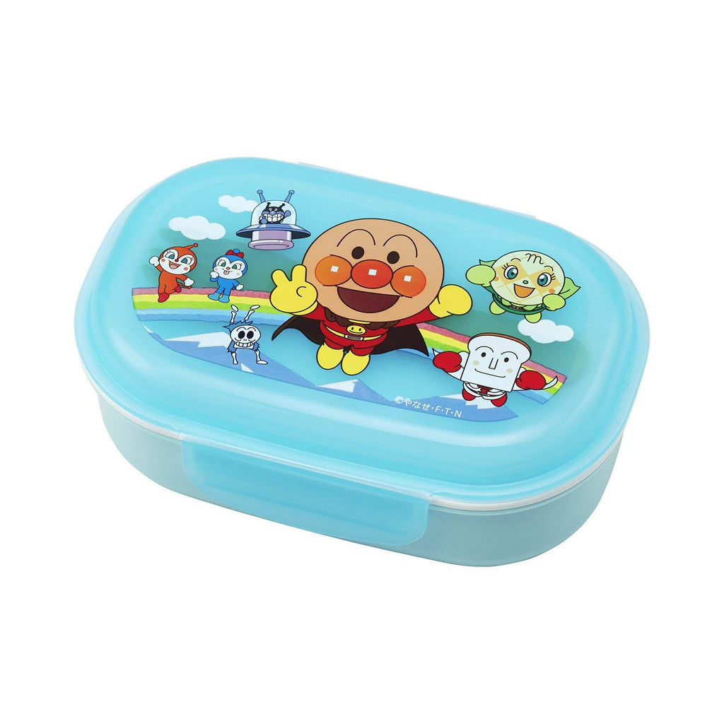 Anpanman Lunch Box with Fork Blue 270ml Japan