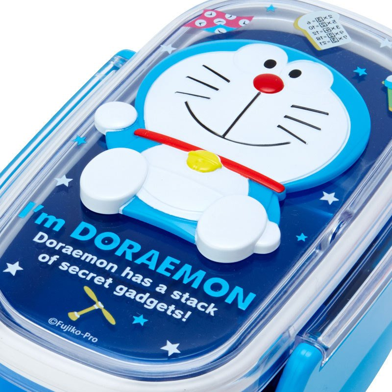 Lock Lunch Box Bento Relief 2Stage I'm DORAEMON Sanrio Japan