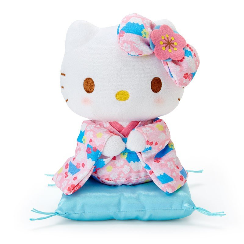 Hello Kitty Plush Doll Kimono Sanrio Japan New Year