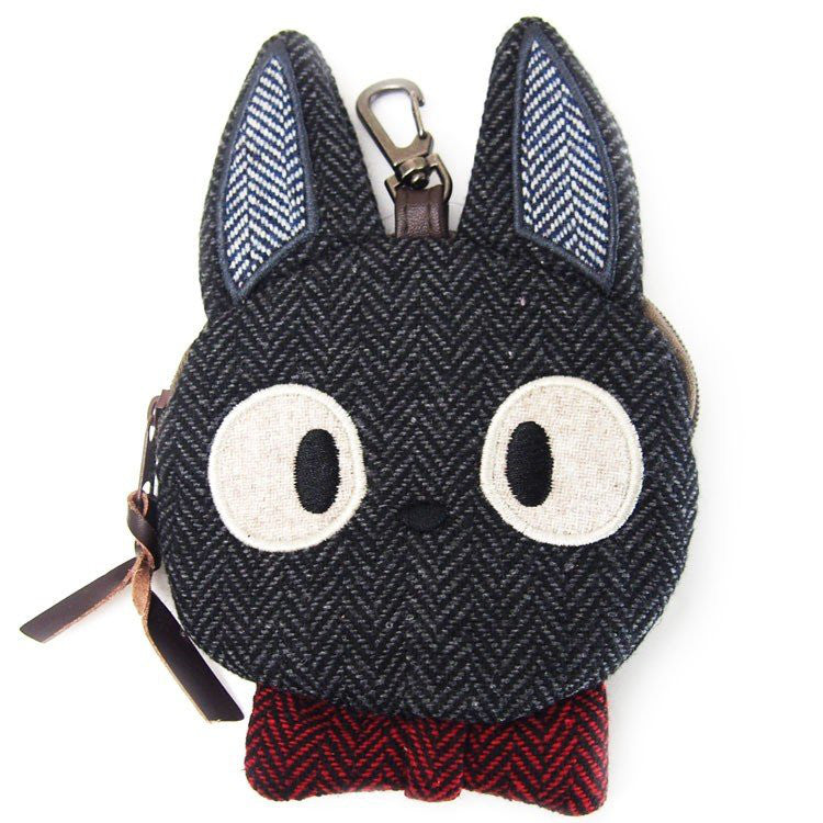 Kiki's Delivery Service Jiji Pouch Die-Cut Tweed Studio Ghibli Japan