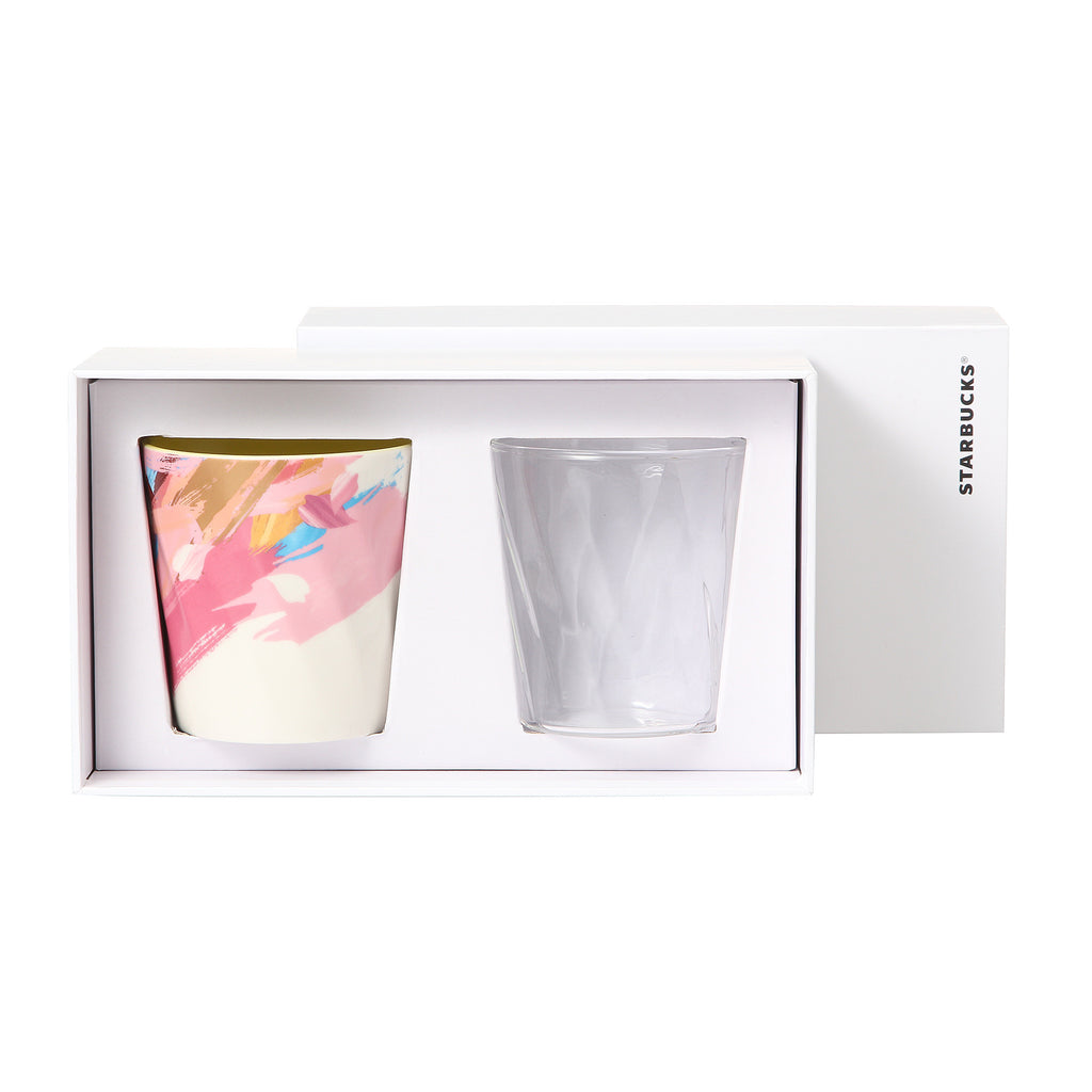 Starbucks Japan SAKURA 2016 Cheery Glass & Mug Cup Set w/ Gift Box