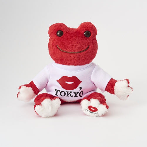 Pickles the Frog Bean Doll Plush KISS.TOKYO Red Japan