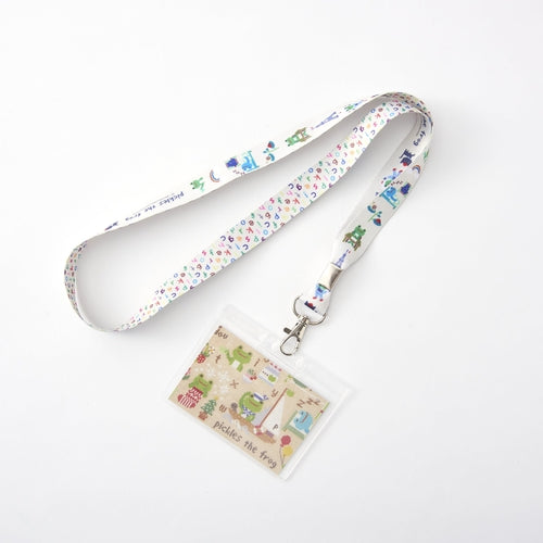 Pickles the Frog Necklace Pass Card Case Strap Sewing Japan