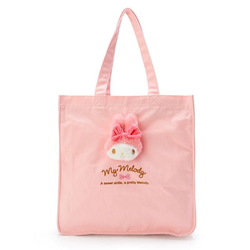 My Melody Boa Plush Mascot Tote Bag Sanrio Japan