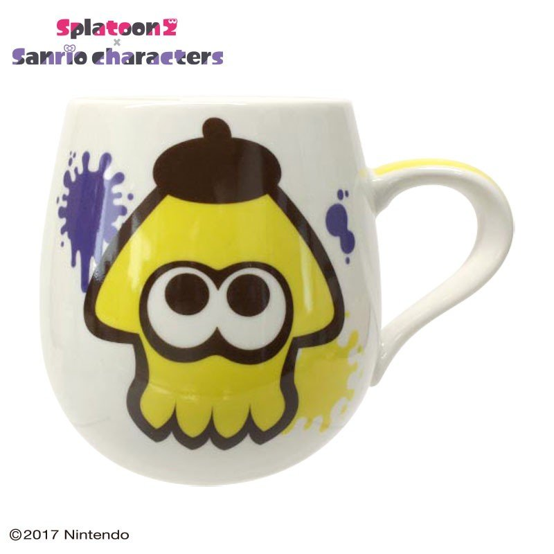 Pom Pom Purin Mug Cup Squid Splatoon 2 Sanrio Japan