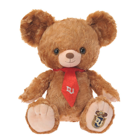 UniBEARsity Mocha Bear 15 inch Plush Doll Disney Store Japan Mickey Mouse 2016