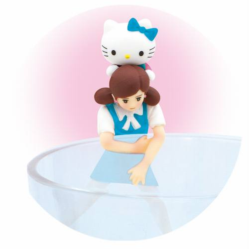 Cup no Fuchiko Hello Kitty Miniature Figure Piggyback Mount Fuji Sanrio Japan