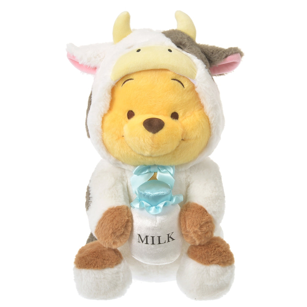 Winnie the Pooh Plush Doll L Eto Zodiac 2021 Cow Disney Store Japan New Year