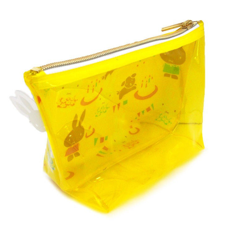 Miffy Clear Pouch Miffy Party Yellow Japan