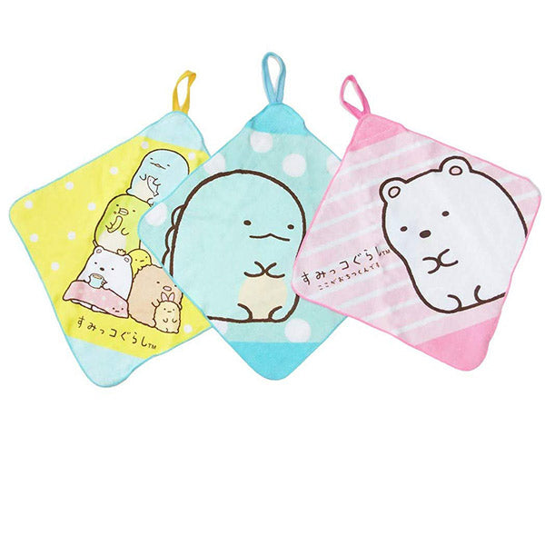 Sumikko Gurashi Hand Towel with Loop 3pcs Set San-X Japan
