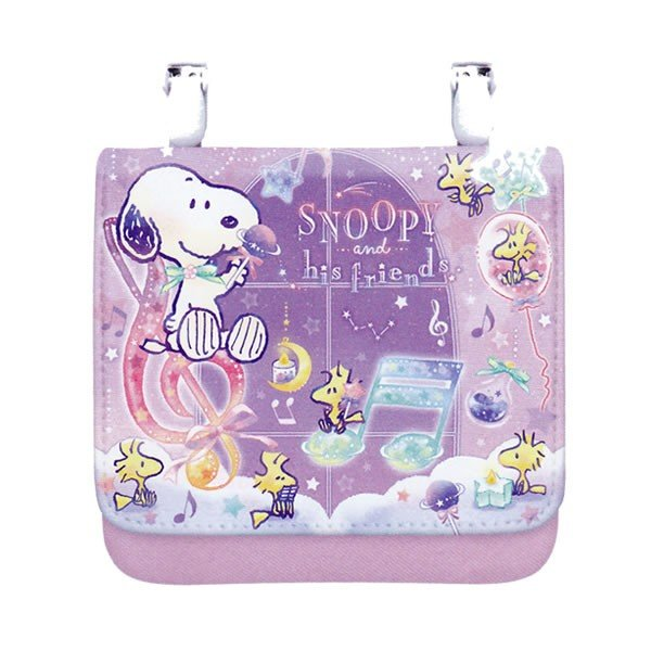 Snoopy Pocket Pouch Classic Purple PEANUTS Japan