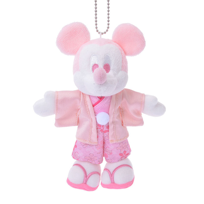 Mickey Plush Keychain Sakura 2020 Disney Store Japan