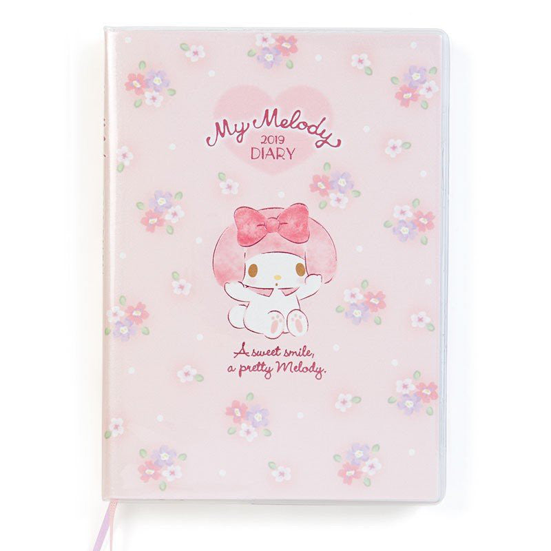 My Melody 2019 Schedule Planner Book Diary B6 Weekly Ruled edges Sanrio Japan