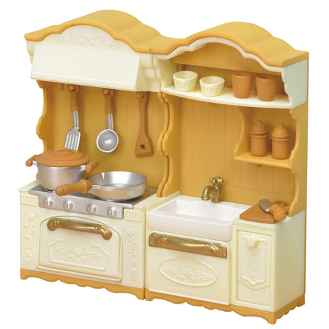 Furniture Kitchen Stove Sink set Ka-420 Sylvanian Families Japan EPOCh